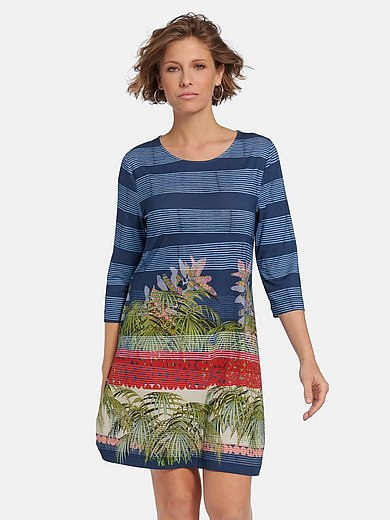 Efixelle - La robe en jersey avec encolure ronde