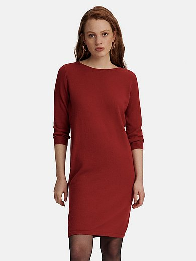 include - knitted dress with boat neck