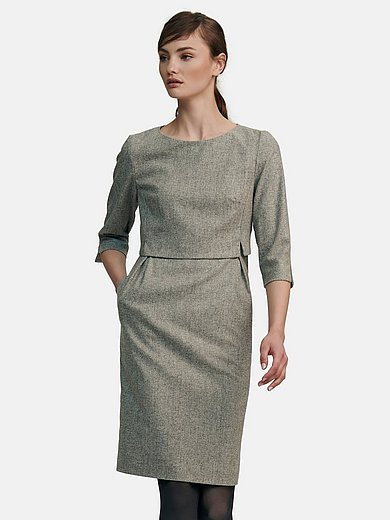Fadenmeister Berlin - Dress with 3/4-length slit sleeves