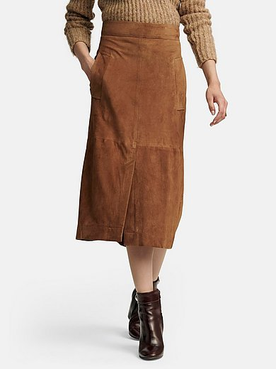Fadenmeister Berlin - Leather skirt with wide waistband