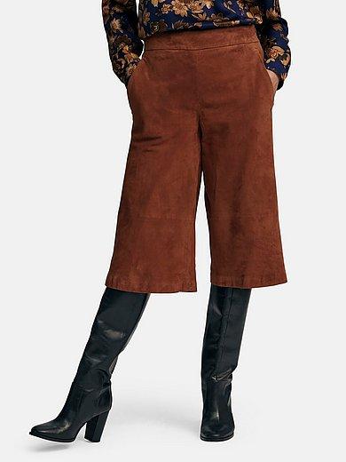 St. Emile - La jupe-culotte en cuir avec 2 poches ouvertes