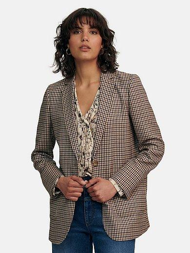 portray berlin - Le blazer long en 100% laine vierge