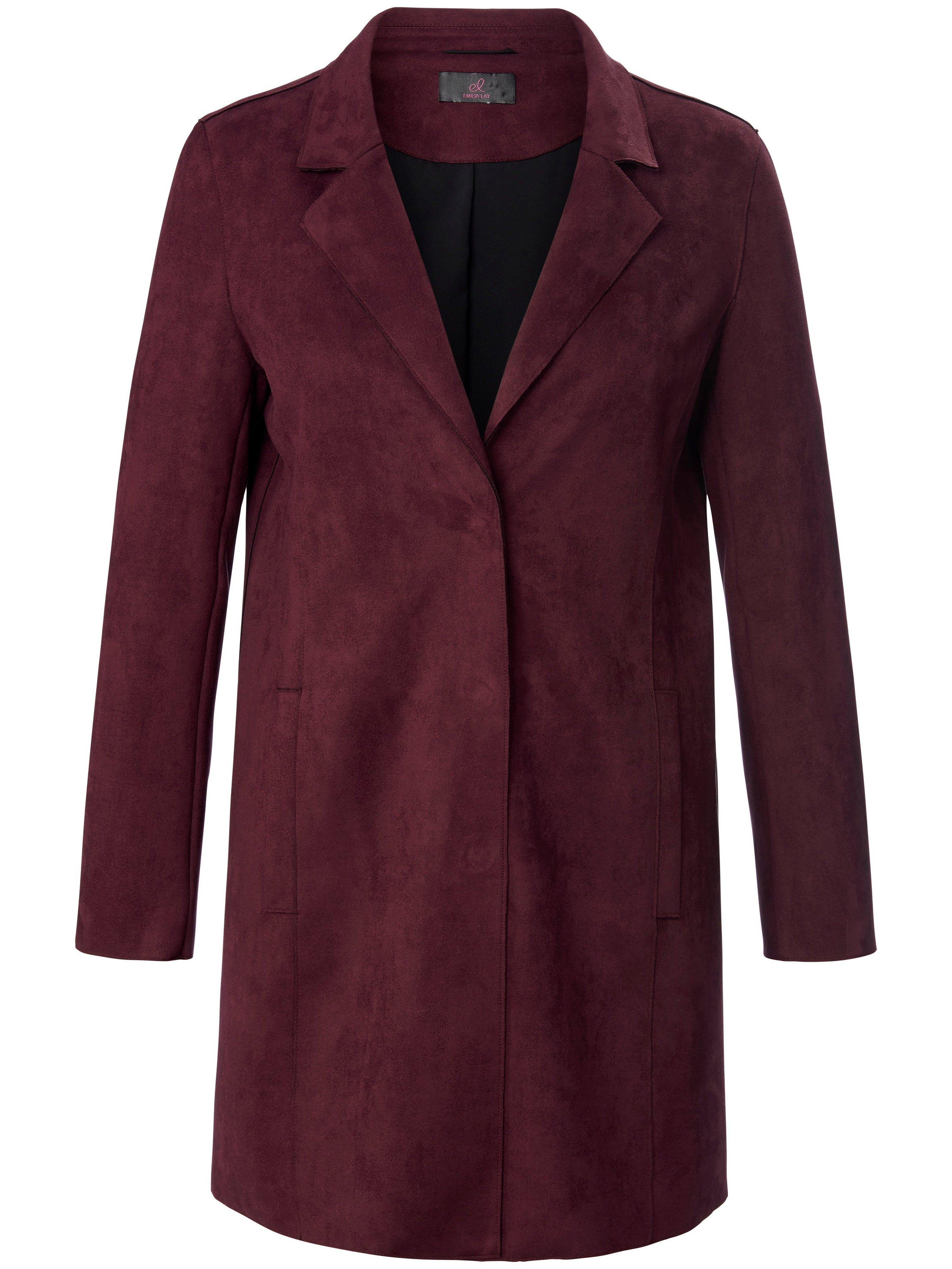 Lange blazer reverskraag Van Emilia Lay roze