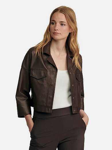 Riani - Leather jacket with 7/8-length sleeves