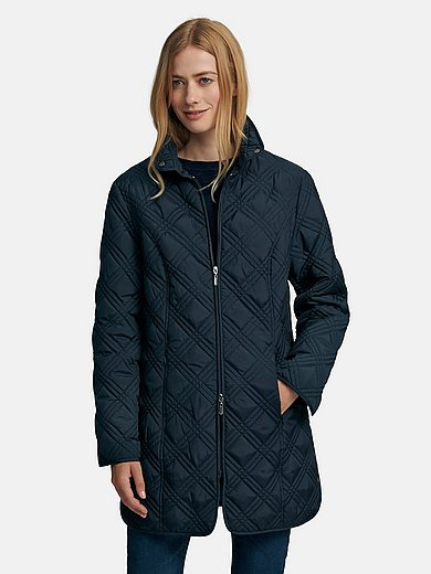 mayfair by Peter Hahn - Long quilted jacket with 2-way zip