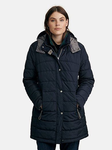 Fuchs & Schmitt - Long quilted jacket with removable hood