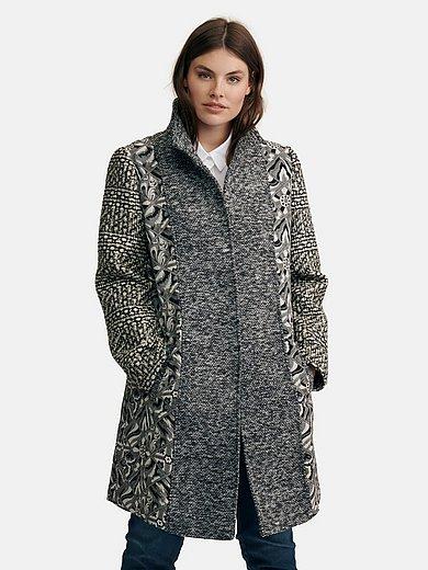Emilia Lay - Le manteau avec col montant et boutons-pression