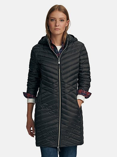 MYBC - Long quilted down jacket with hood