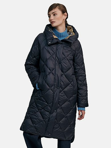 Barbour - Quilted coat with high-closing stand-up collar