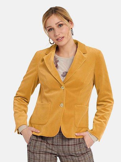 Basler - Velvet jersey blazer with revere collar