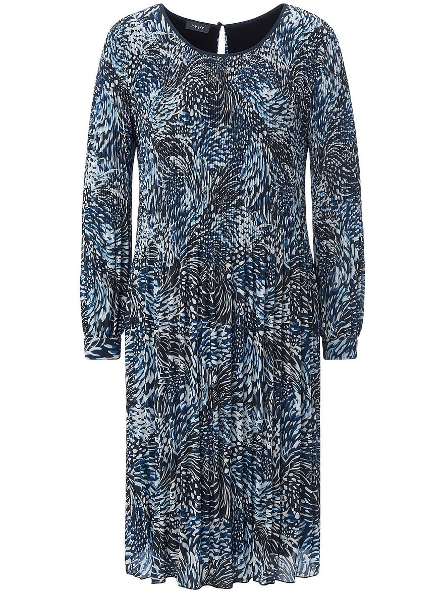 basler - Plissee-Kleid  blau Größe: 44