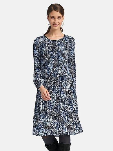 Basler - Pleated dress with round neckline