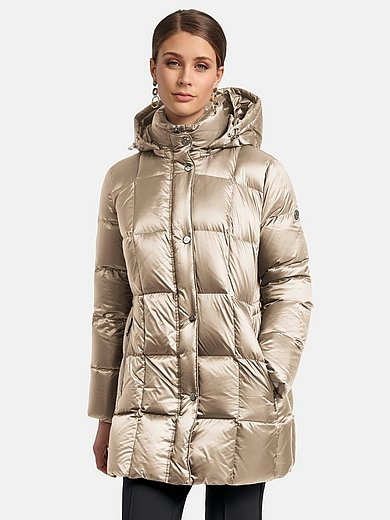 Basler - Quilted down jacket with zip-off hood