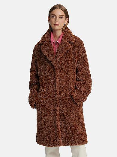 MYBC - Le manteau court en fausse fourrure à col tailleur