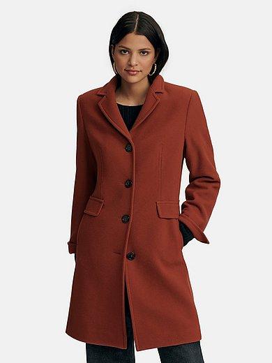 Peter Hahn - Knee-length coat in 100% new milled wool