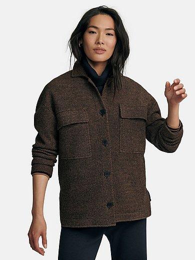 MAERZ Muenchen - Strick-Overshirt aus 100% Schurwolle Merino