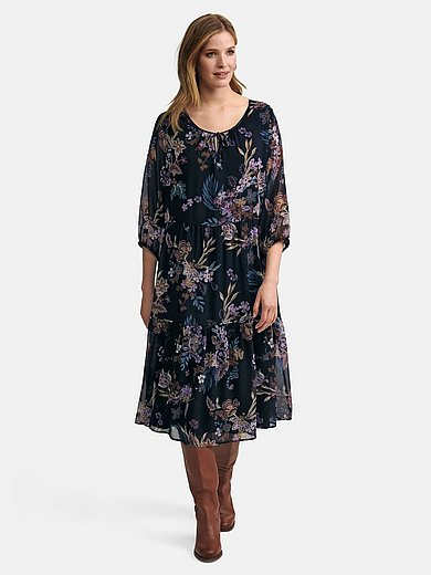Via Appia Due - Dress in semi-sheer woven fabric
