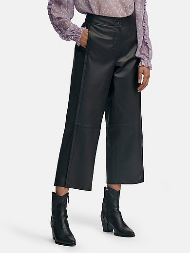 Riani - La jupe-culotte en cuir nappa d'agneau