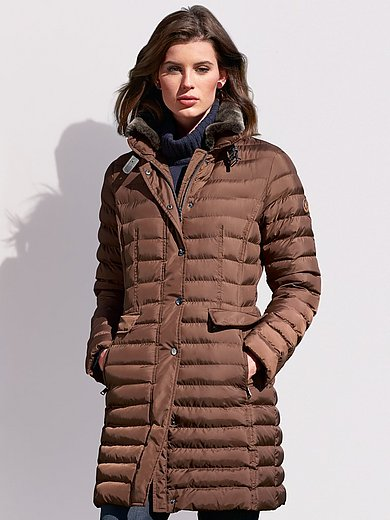 Fuchs & Schmitt - Quilted coat with zip-off faux fur stand-up collar