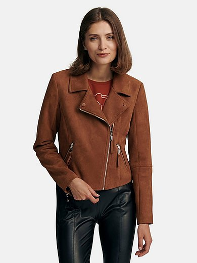 comma, - Jacket made of soft, elasticated faux suede