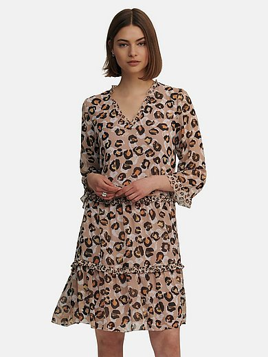 Marc Cain - Dress with leopard skin print
