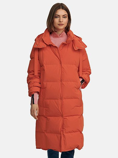 Marc Cain - Quilted down coat with button-off hood
