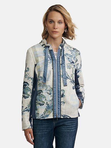 Just White - Jacket with stand-up collar