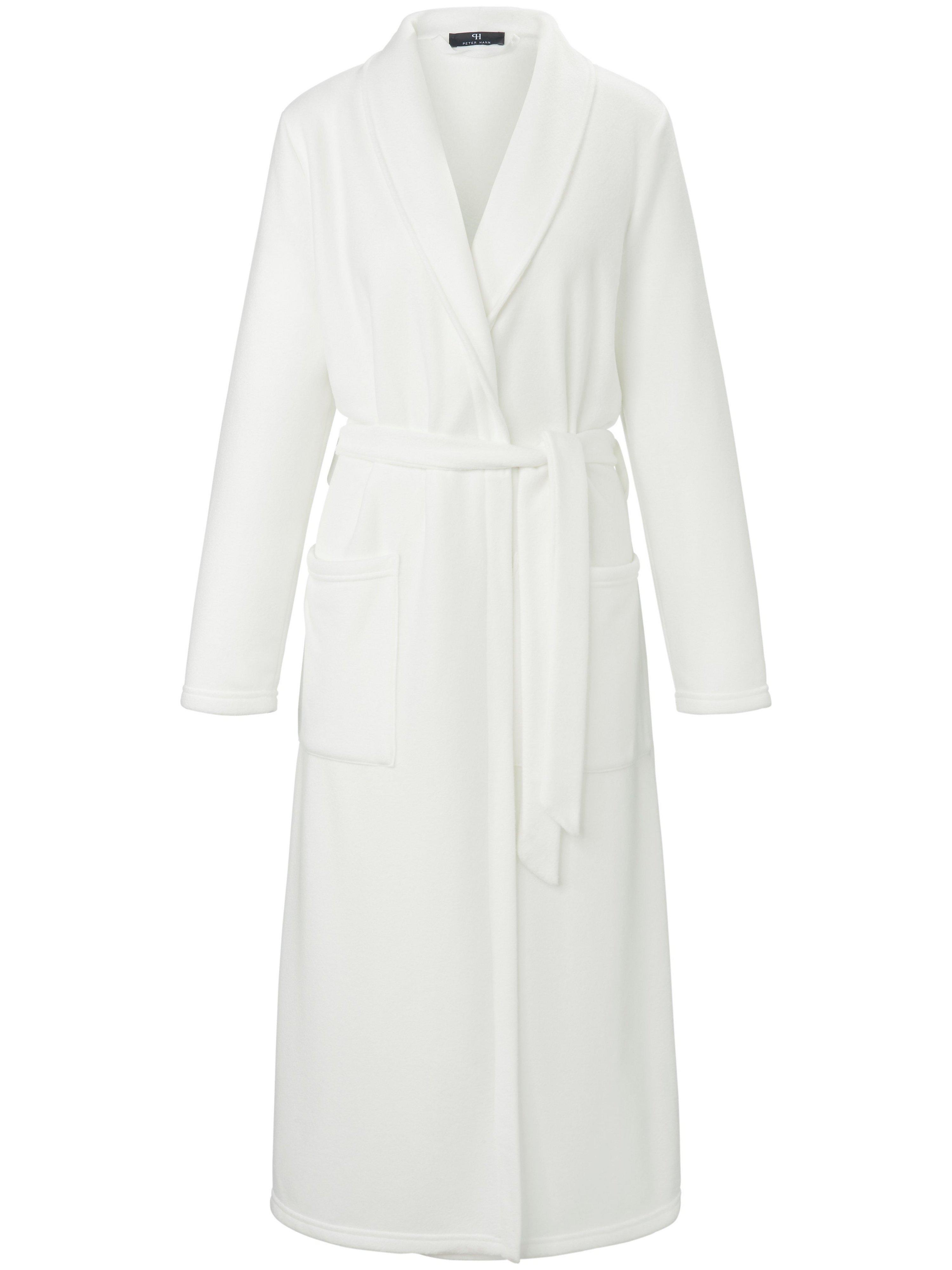 La robe chambre en polaire à col châle beige - Peter Hahn - Modalova