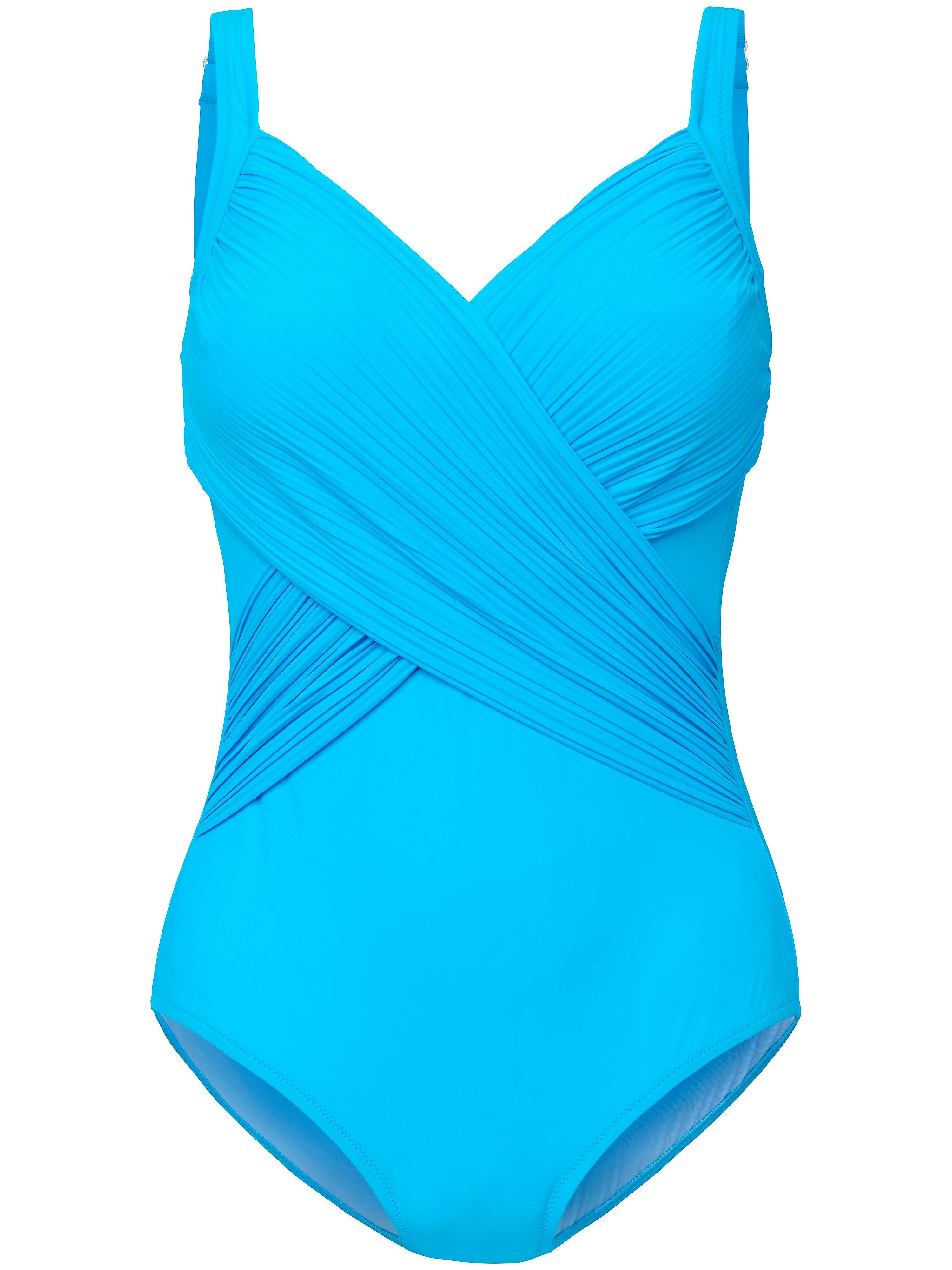 Badpak verstelbare schouderbandjes Van Grimaldimare turquoise