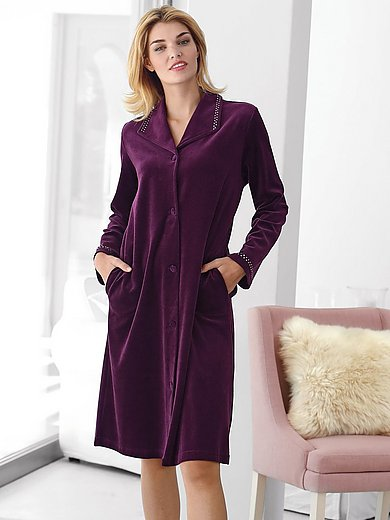 Peter Hahn Velour robe dark violet