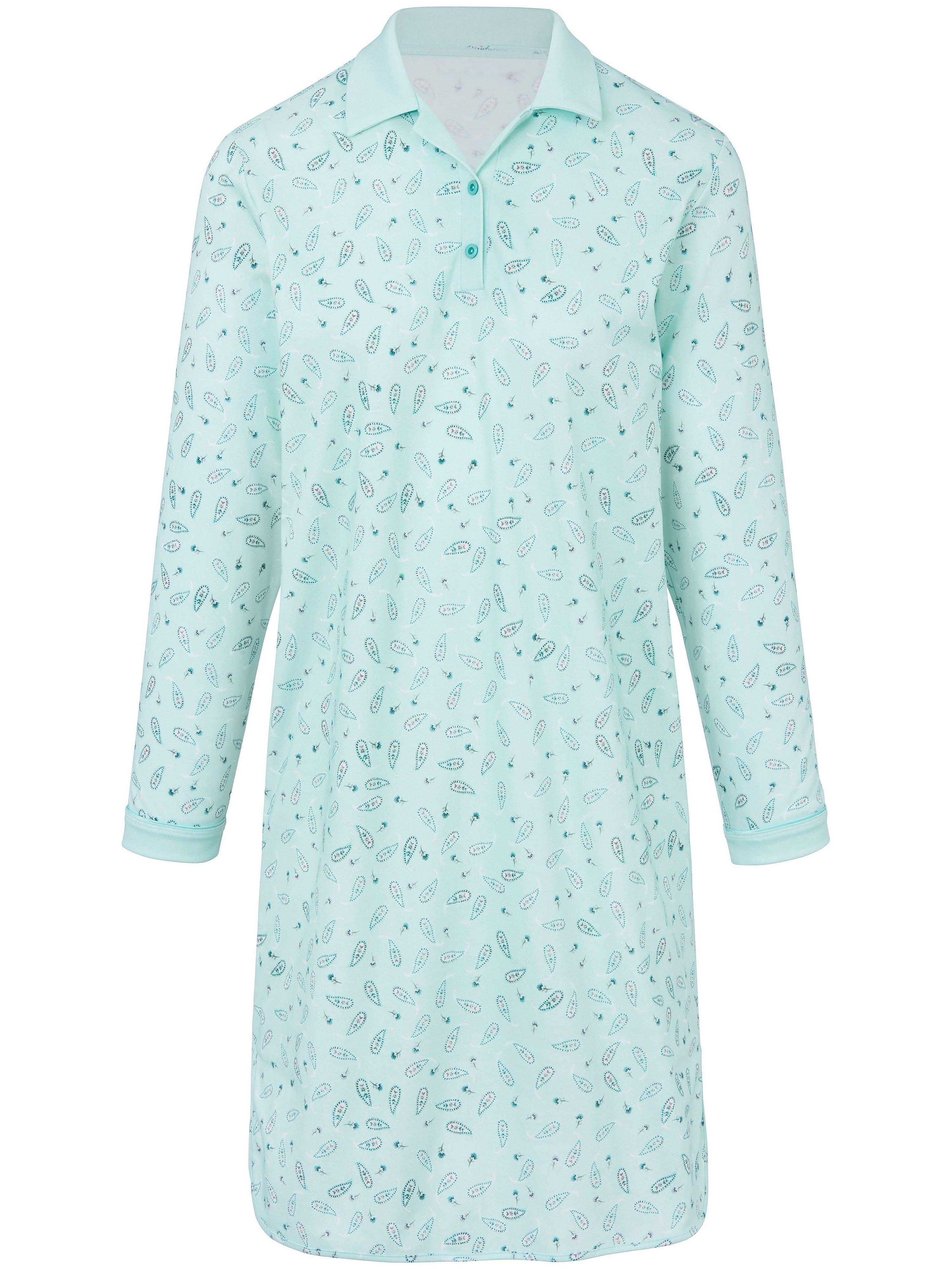 La chemise nuit 100% coton  Hautnah turquoise taille 44