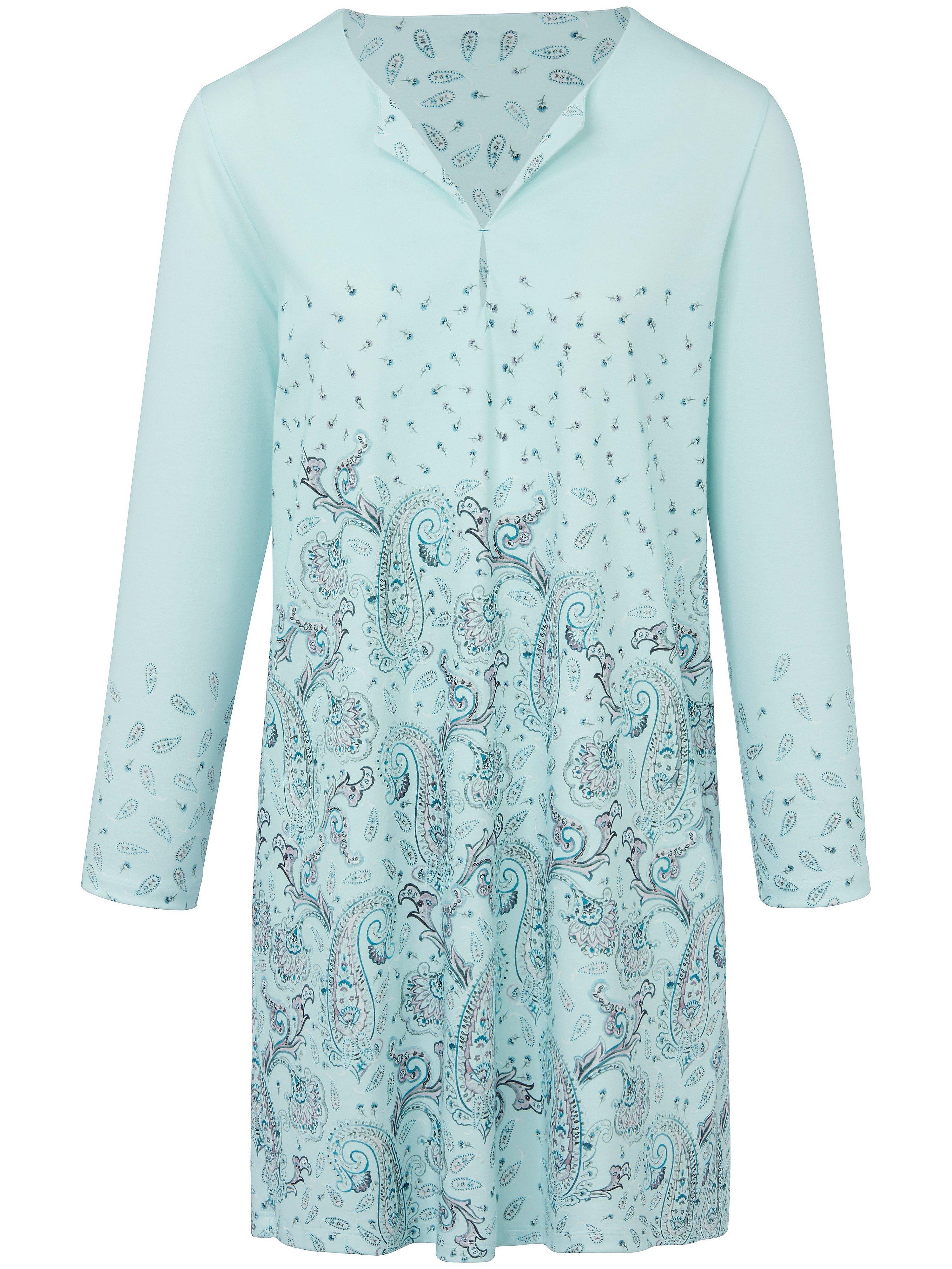 La chemise nuit 100% coton  Hautnah turquoise taille 42
