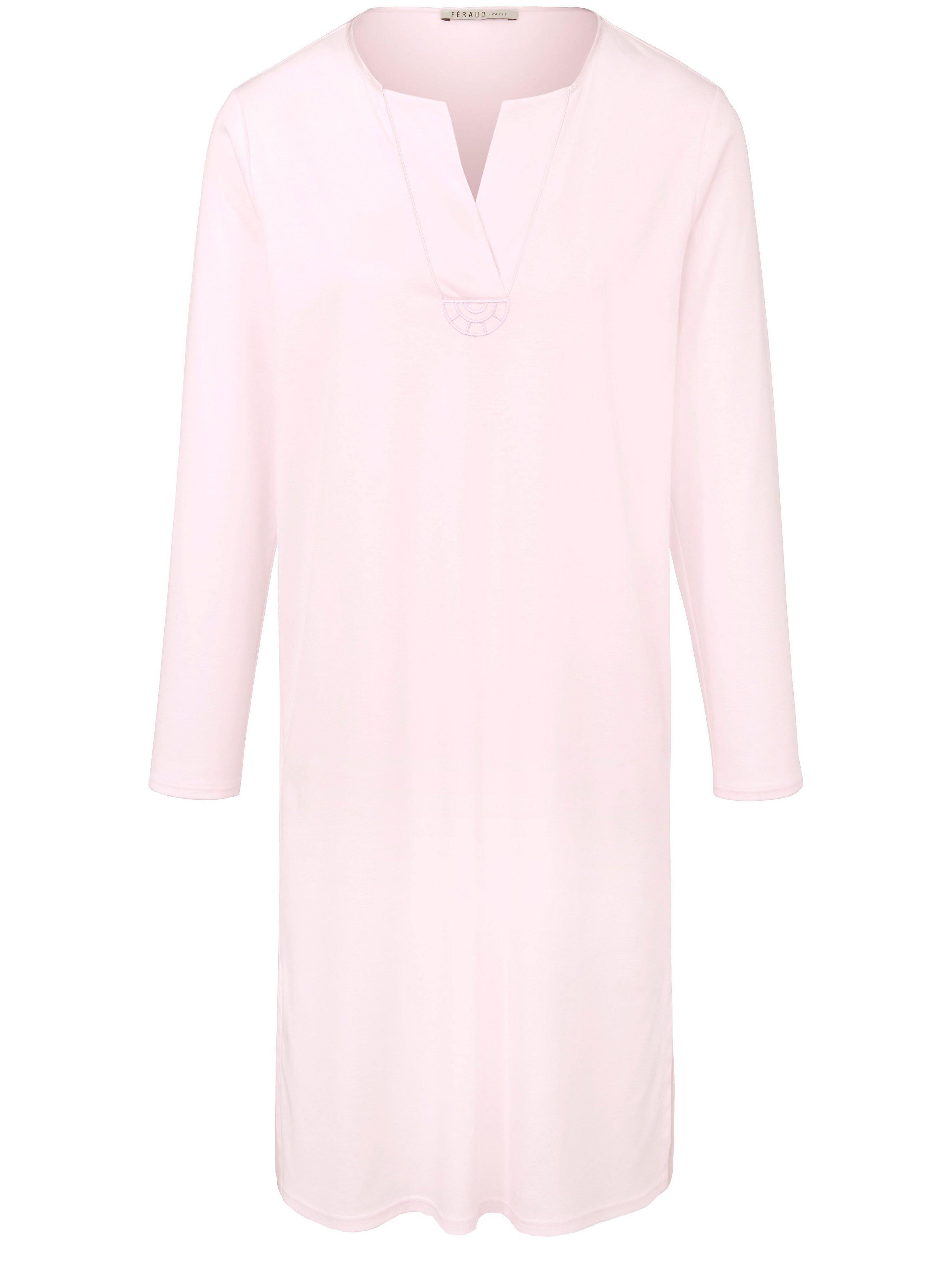 La chemise nuit 100% coton  Féraud rose taille 50