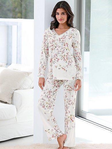 Hutschreuther - Schlafanzug mit V-Ausschnitt