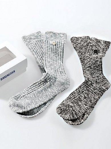 Birkenstock - Sokken Slub Black & Gray in set van 2 paar