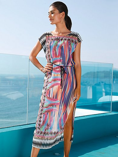 Sunflair - Midi length dress with feather motifs
