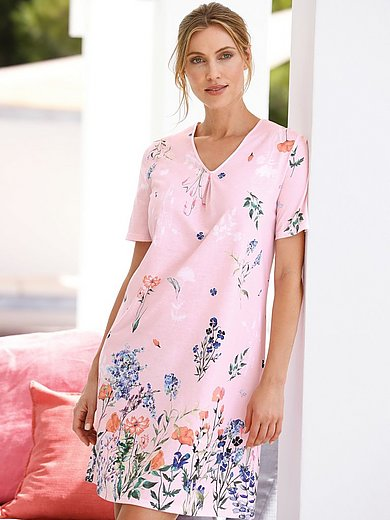 Rösch - Nightdress with short sleeves in 100% cotton