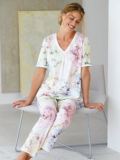 Féraud - Pyjama met hortensiaprint
