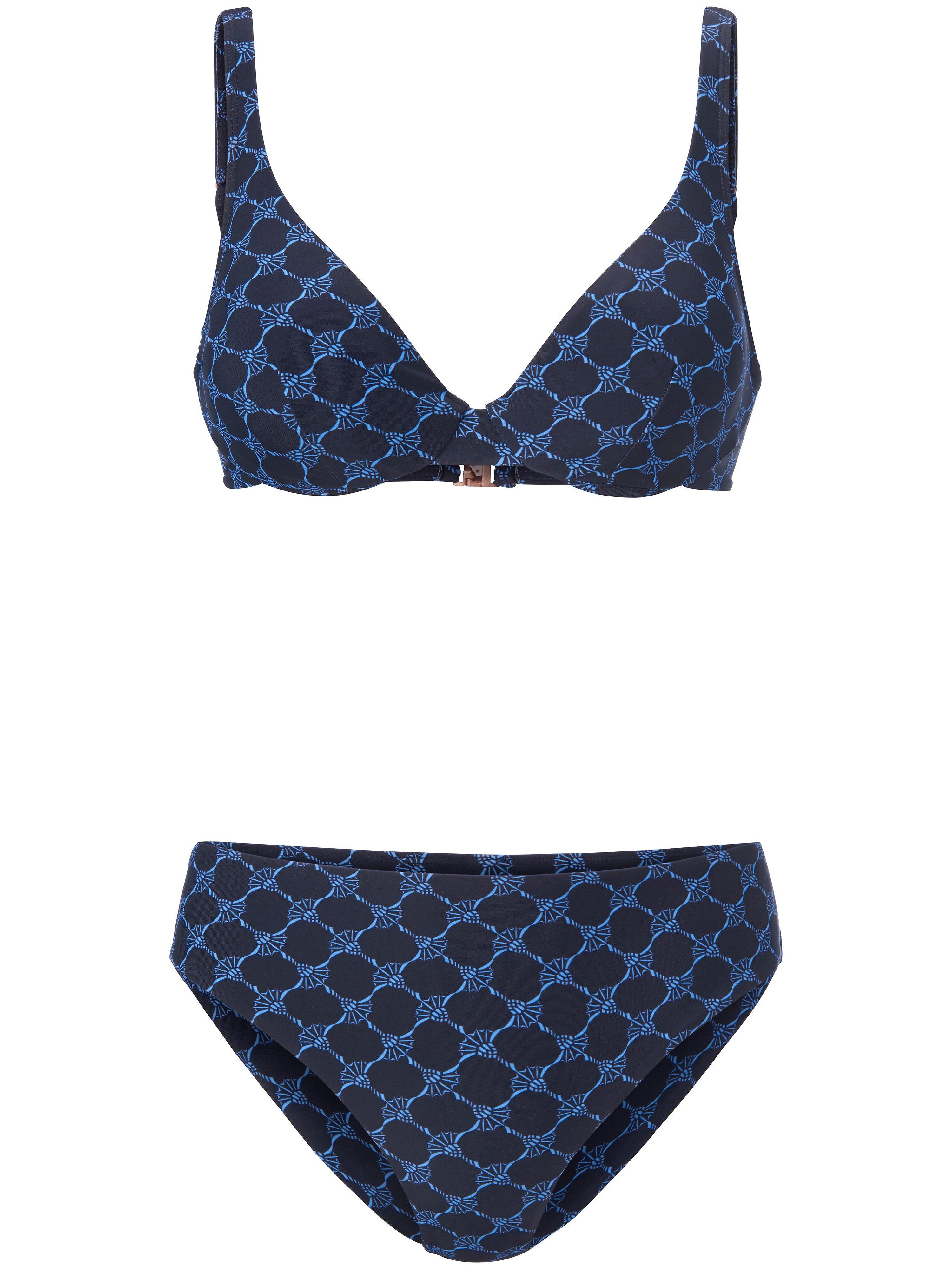 Bikini Xtra Life met korenbloemprint Van Joop! zwart