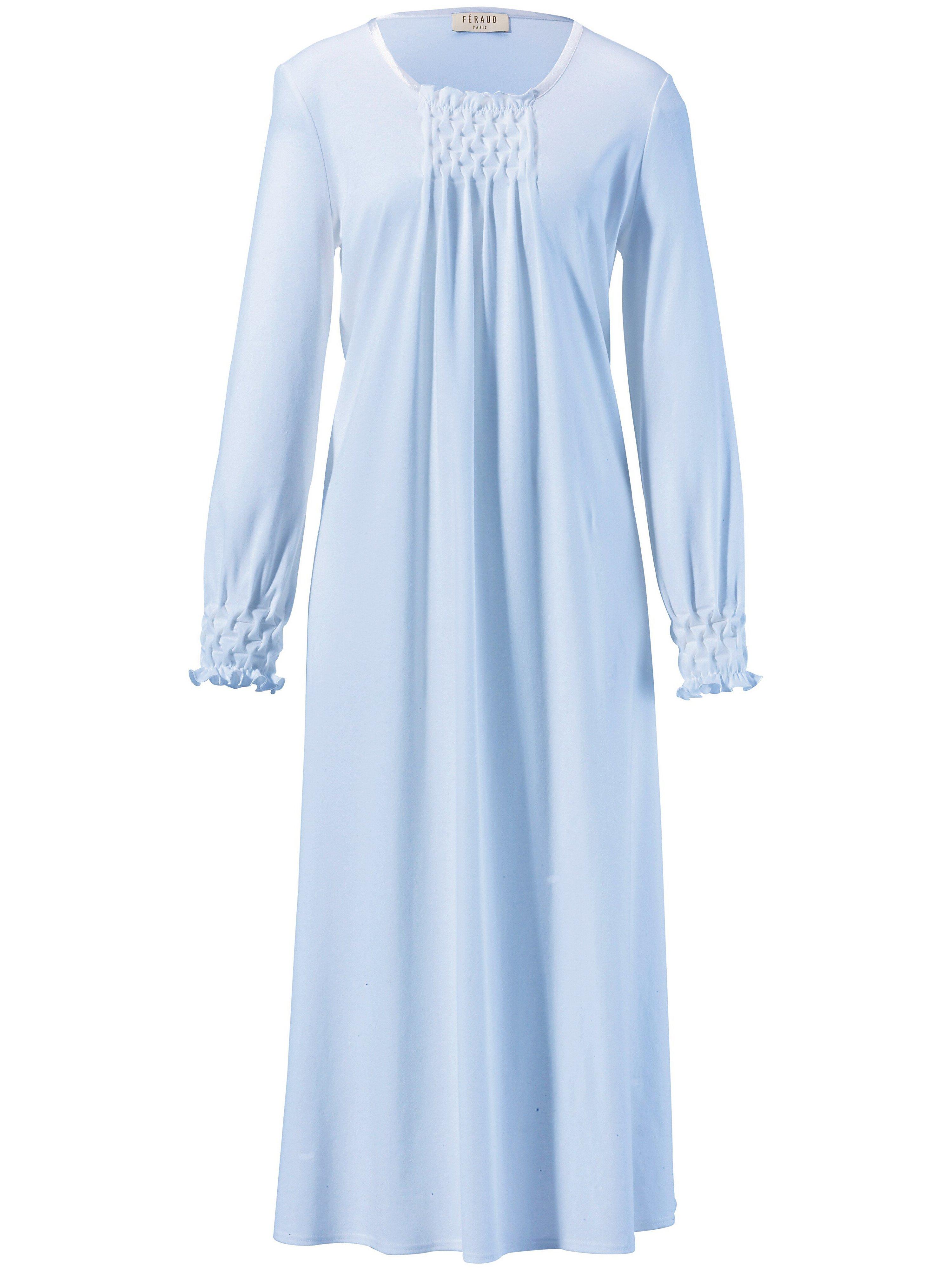 La chemise nuit pur coton  Féraud bleu taille 40