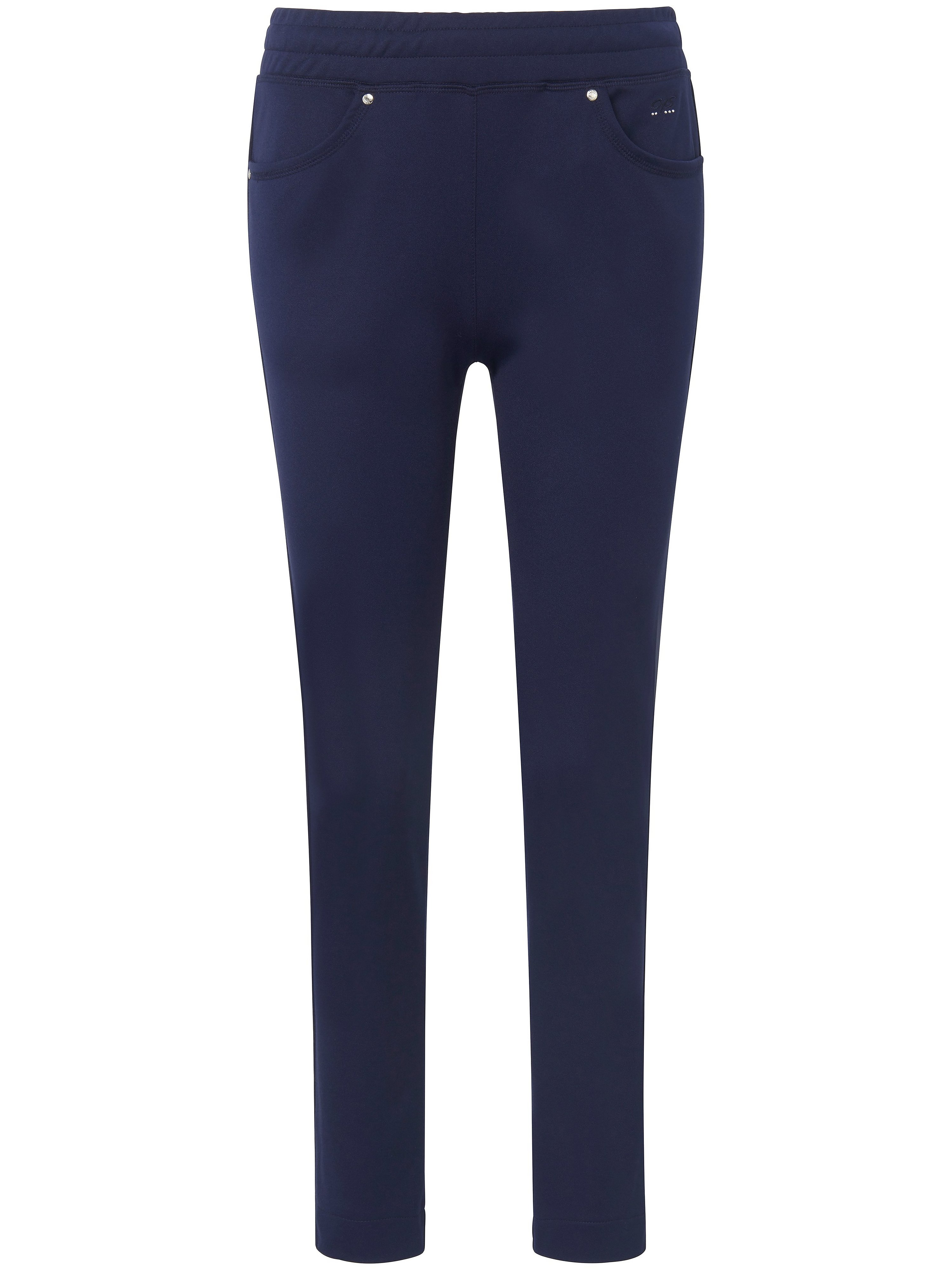 Le pantalon longueur chevilles taille élastiquée  Canyon bleu taille 48