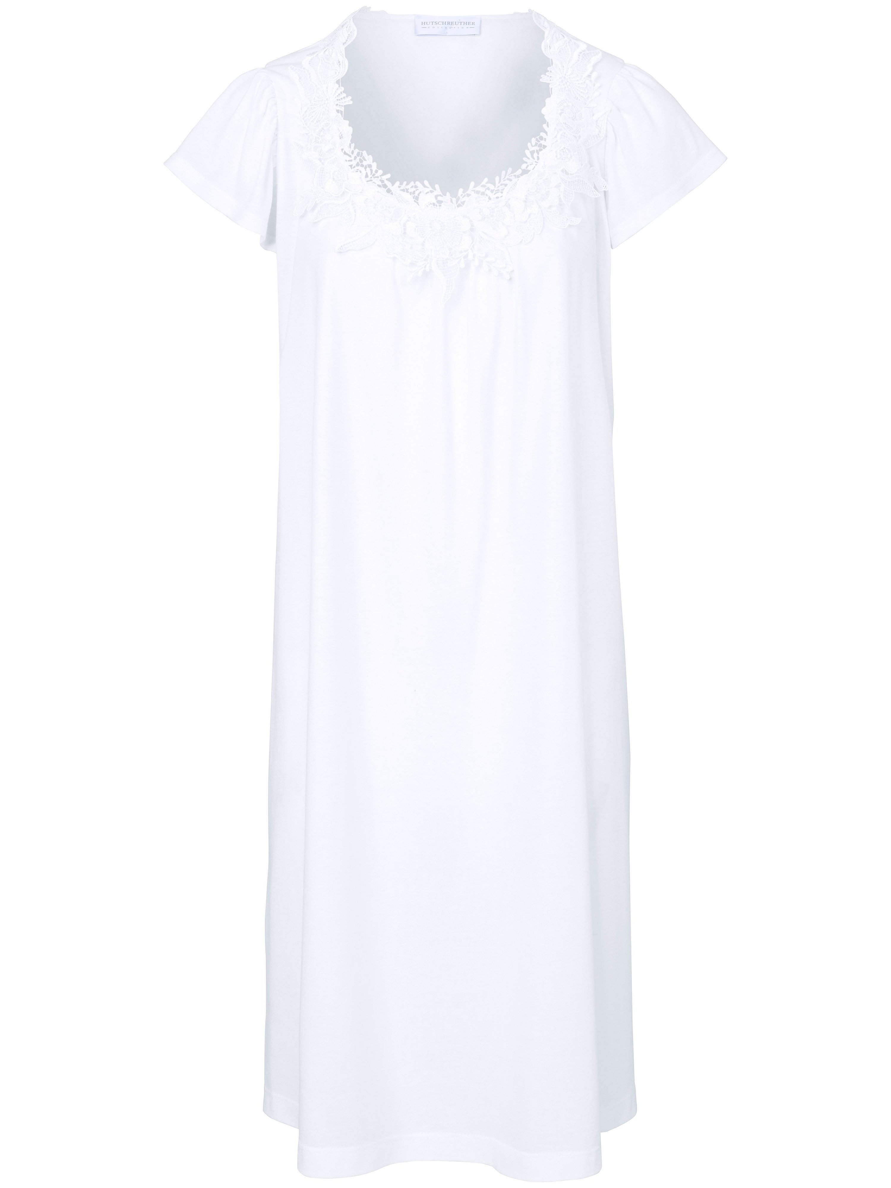 La chemise nuit manches courtes  Hutschreuther blanc taille 54