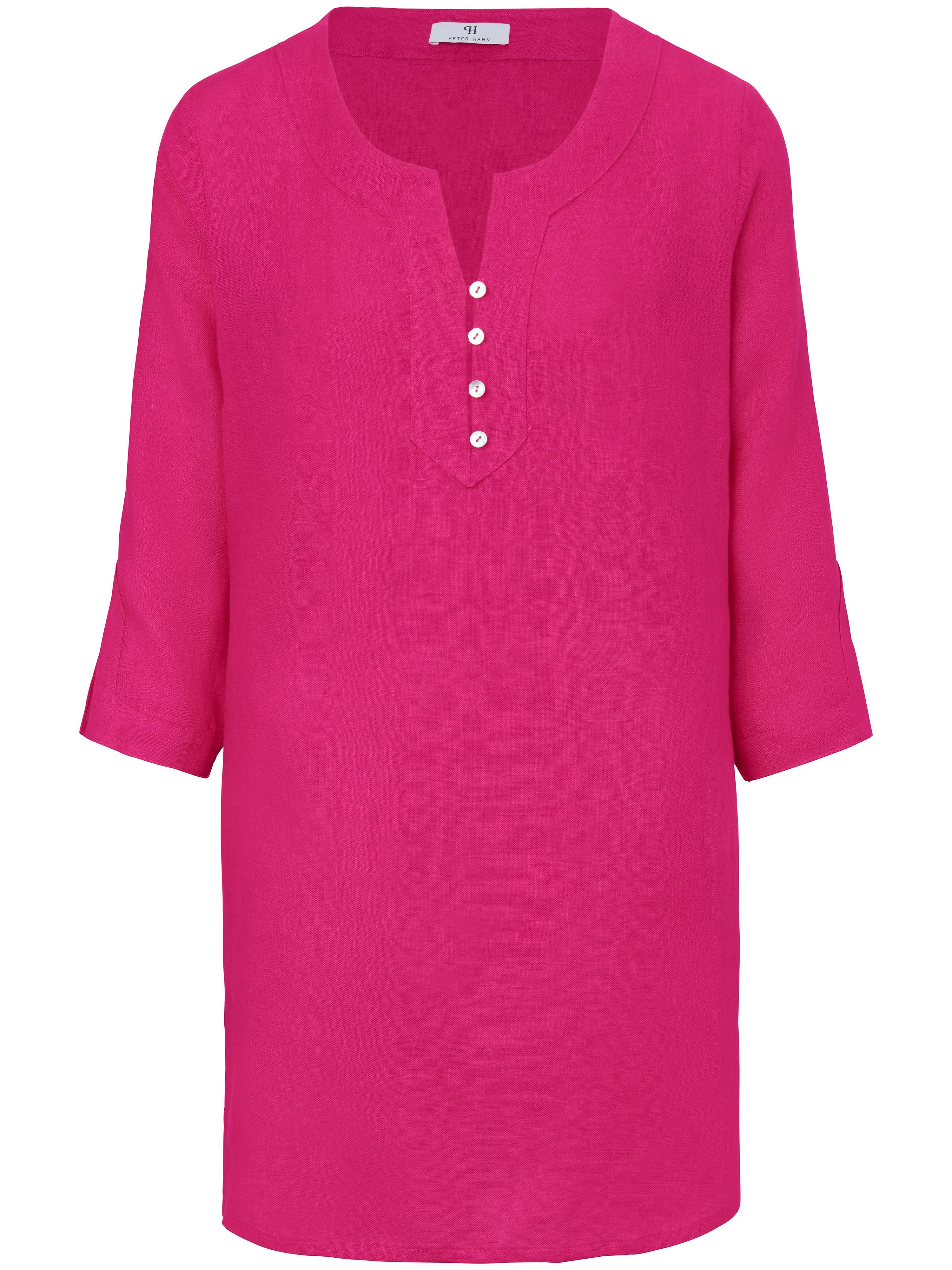 Tunic in 100% linen Peter Hahn bright pink