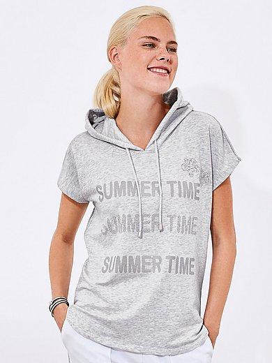 MYBC - Sweatshirt mit überschnittener 1/2-Arm