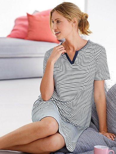 Hautnah - Nachthemd van 100% katoen met korte mouwen