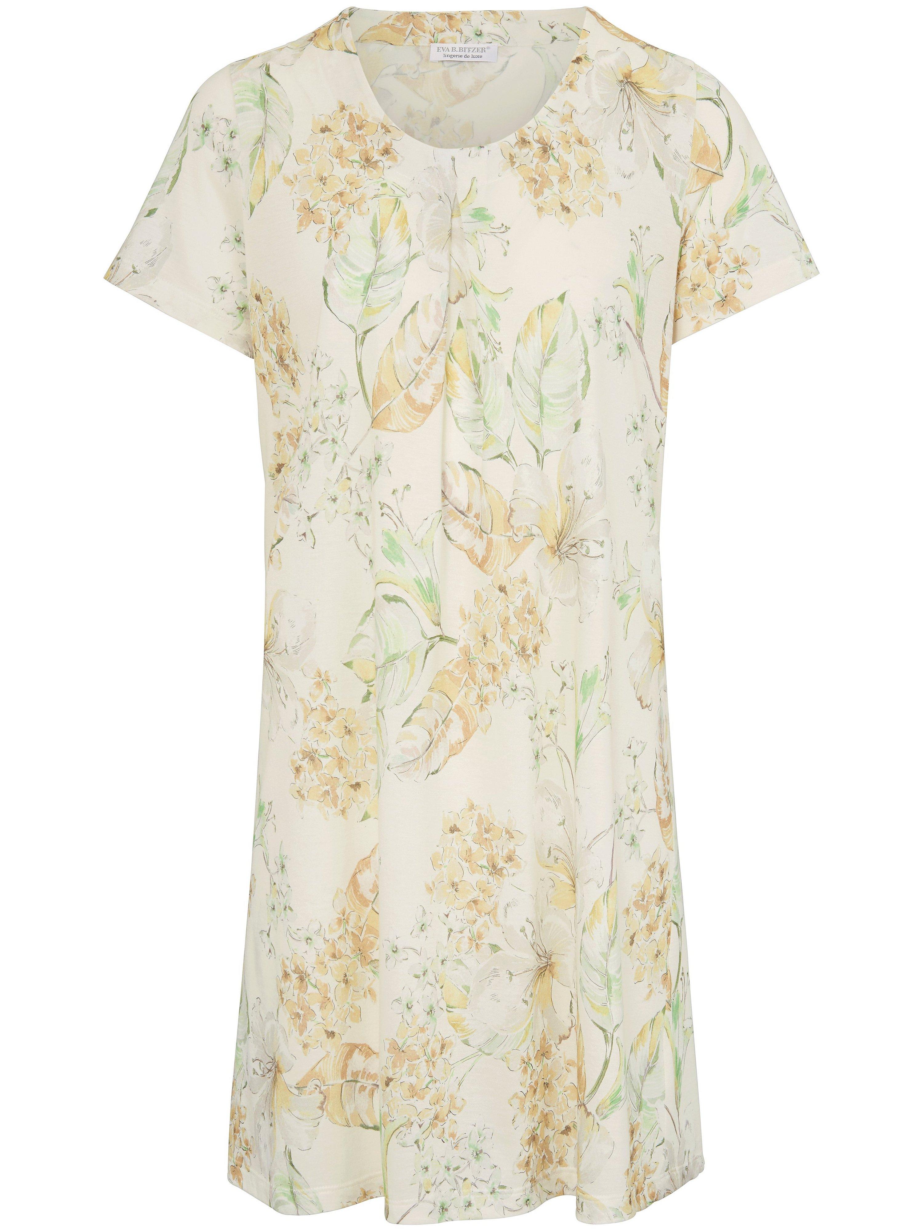 La chemise nuit manches courtes  Eva B. Bitzer jaune taille 46