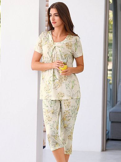 Eva B. Bitzer - Pyjama met bladprint