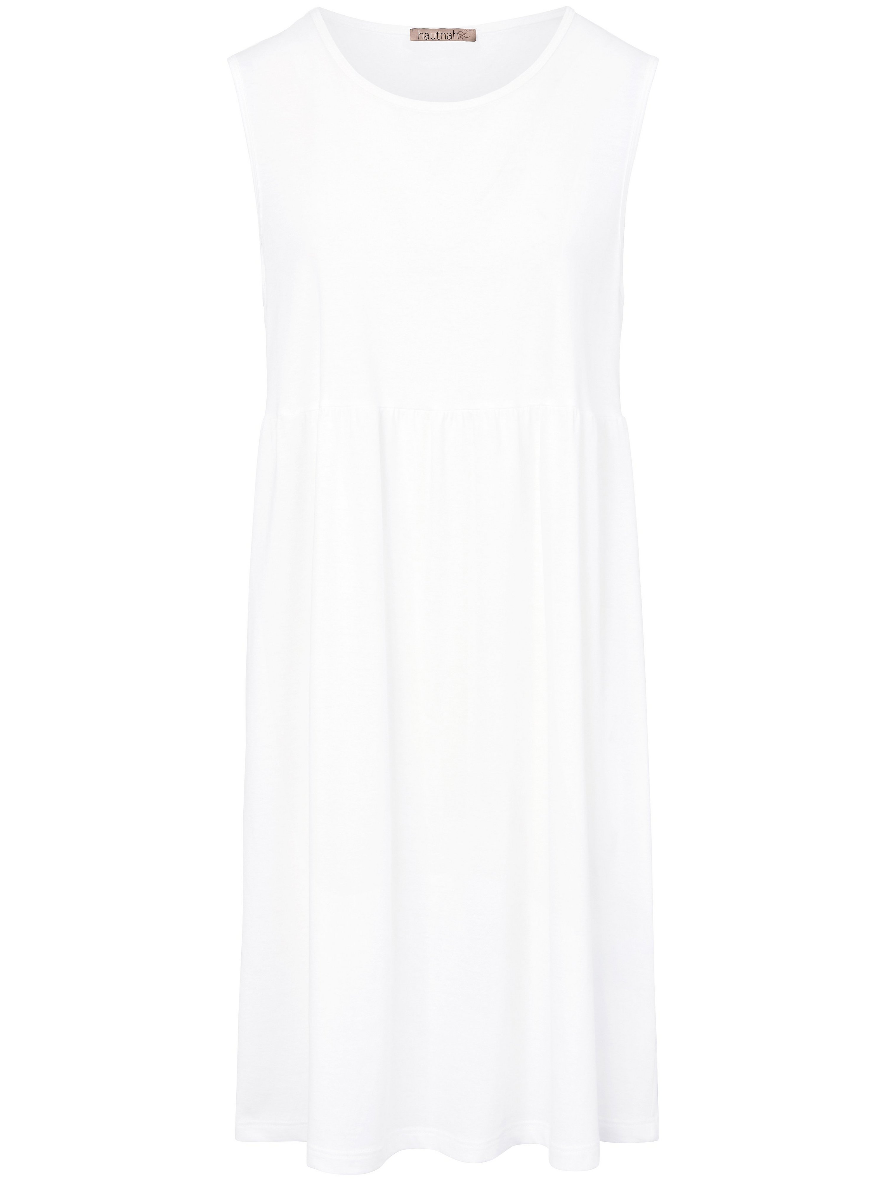 Mouwloos nachthemd van 100% katoen Van Hautnah wit