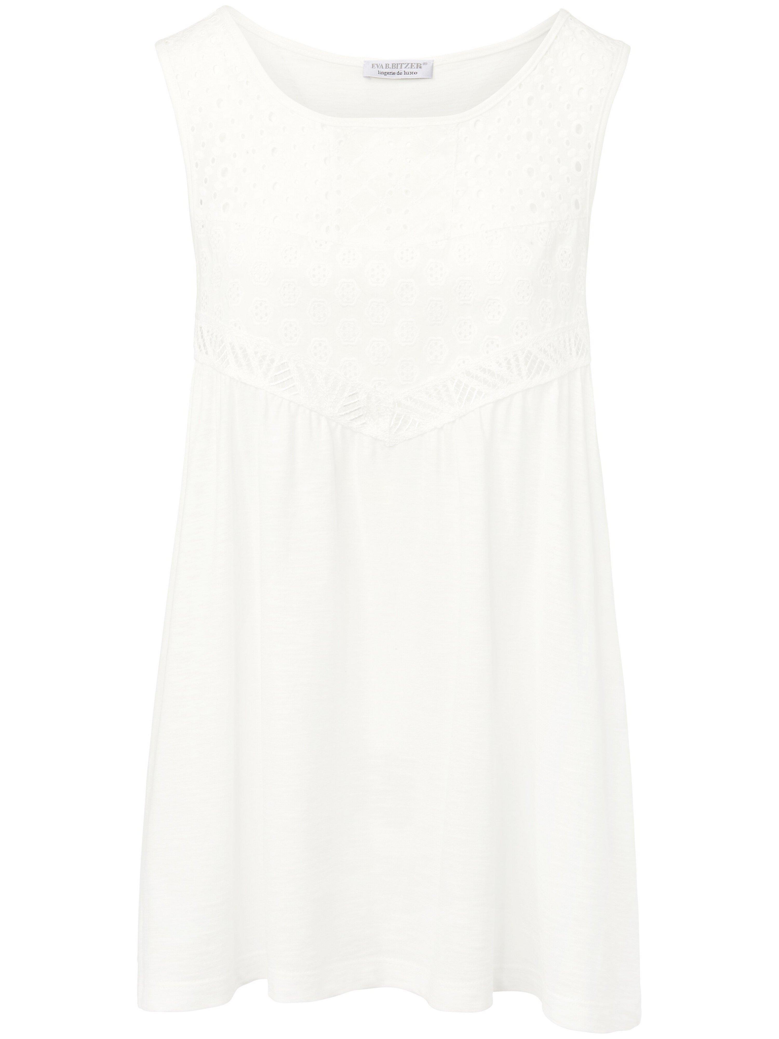 Le top 100% coton  Eva B. Bitzer blanc