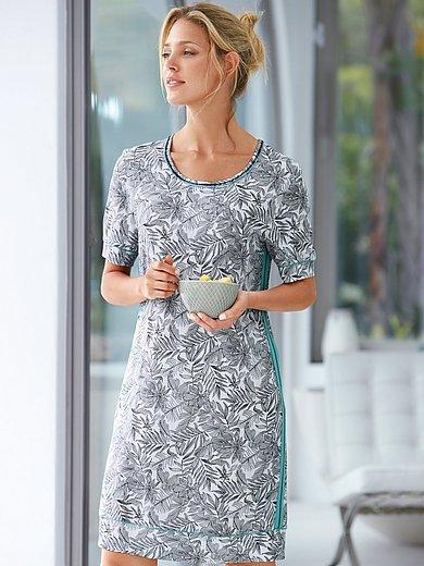 Rösch Pure - Nachthemd met korte mouwen en bladmotieven